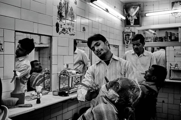 Street Photograph - Barbearia by Lu??s Godinho