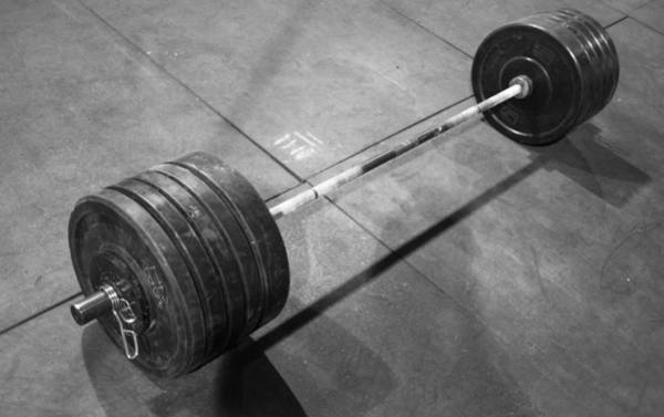 Andros Photograph - Barbell by Jeff Andros