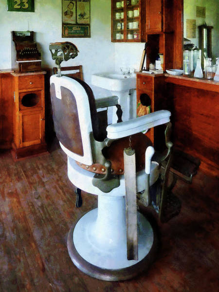 Photograph - Barber - Barber Chair And Cash Register by Susan Savad