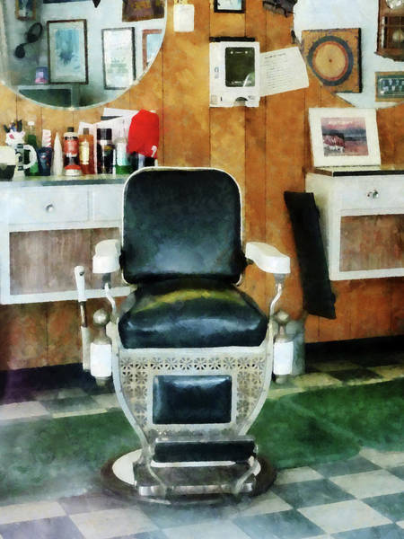 Photograph - Barber - Barber Chair Front View by Susan Savad