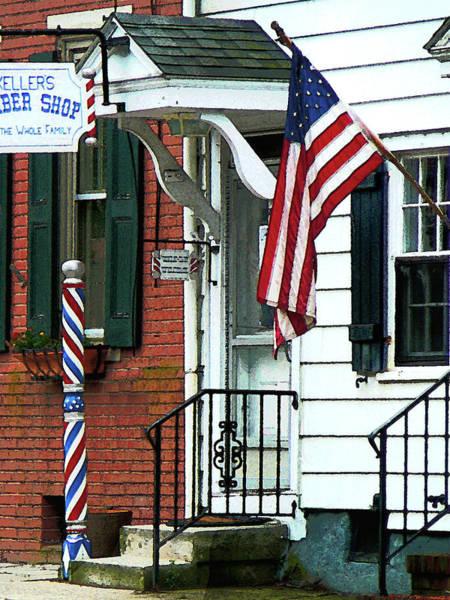 Photograph - Barber - Barber Shop Entrance by Susan Savad