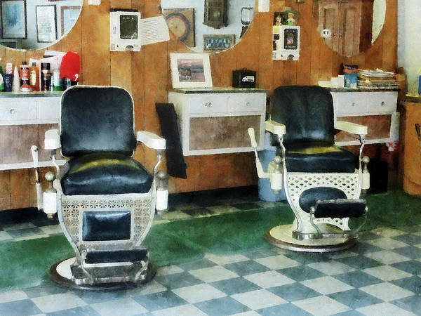 Photograph - Barber - Corner Barber Shop Two Chairs by Susan Savad