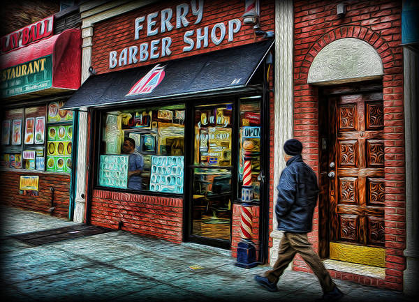 Hairdresser Wall Art - Photograph - Barber - Ferry Barber Shop by Lee Dos Santos