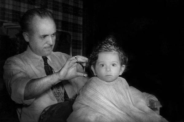 Photograph - Barber - First Haircut by Mike Savad