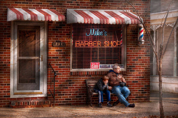 Wall Art - Photograph - Barber - Metuchen Nj - Waiting For Mike by Mike Savad