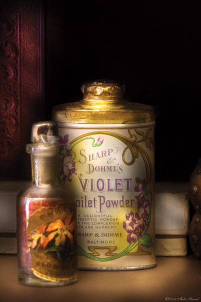 Photograph - Barber -  Sharp And Dohmes Violet Toilet Powder  by Mike Savad