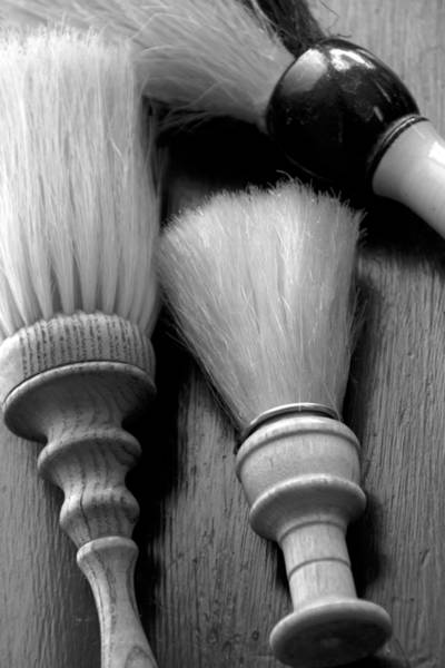 Photograph - Barber Shop 13 Bw by Angelina Tamez