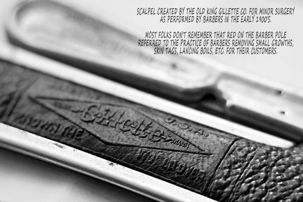 Photograph - Barber Shop 21 Bw With Words by Angelina Tamez
