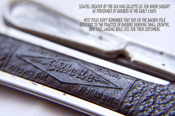 Photograph - Barber Shop 21 With Words by Angelina Tamez