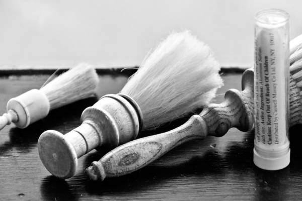 Photograph - Barber Shop 25 Bw by Angelina Tamez