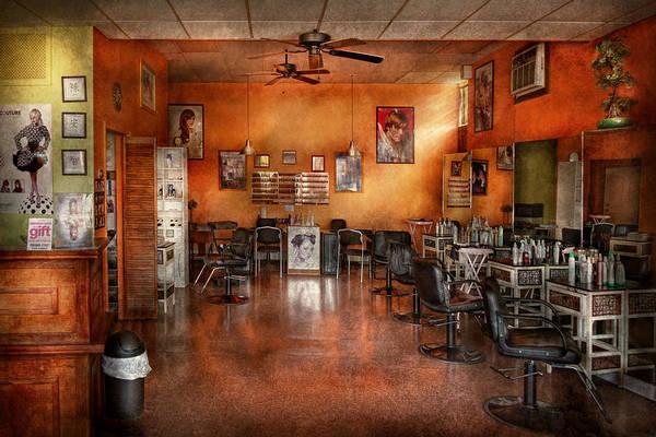 Photograph - Barber - Union Nj - The Modern Salon  by Mike Savad