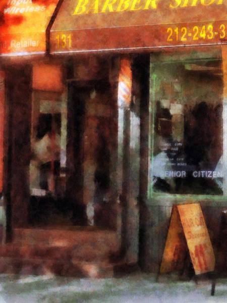 Photograph - Barber - West Village Barber Shop by Susan Savad
