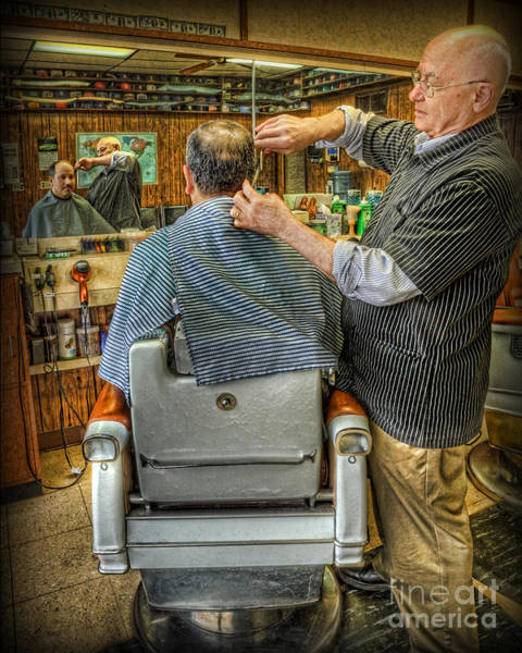 Wall Art - Photograph -  The Barber Shop Shave And A Haircut - Barber Shop by Lee Dos Santos
