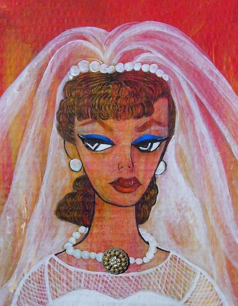 Dressed Up Mixed Media - Barbie Bride by Nancy Mitchell