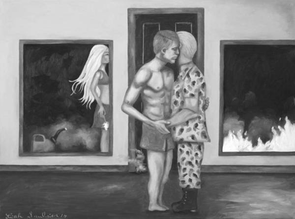 Wall Art - Painting - Barbies Revenge Bw by Leah Saulnier The Painting Maniac