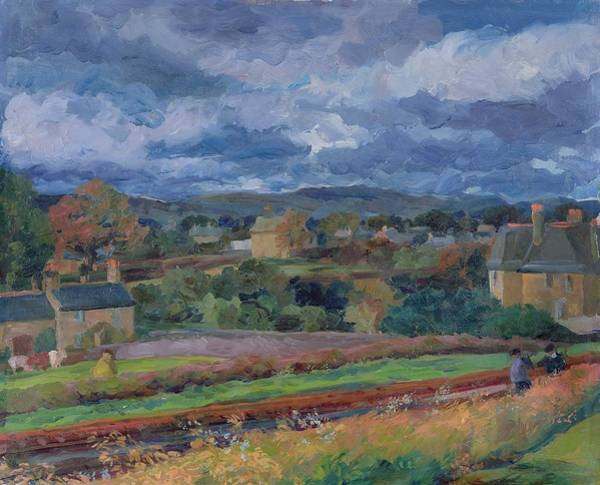 Lake District Painting - Barbon From The Railway Line Autumn by Stephen Harris