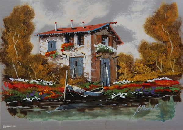 Fine Painting - Barca Al Molo by Guido Borelli