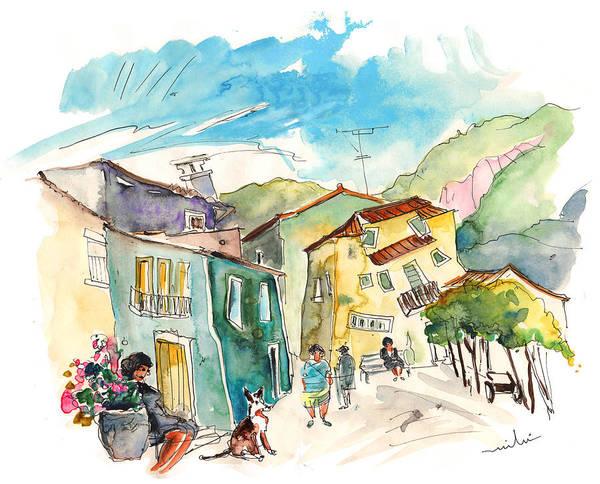 Painting - Barca De Alva Houses 01 by Miki De Goodaboom