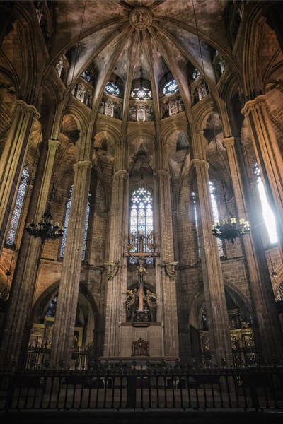 Photograph - Barcelona Cathedral Interior by Joan Carroll