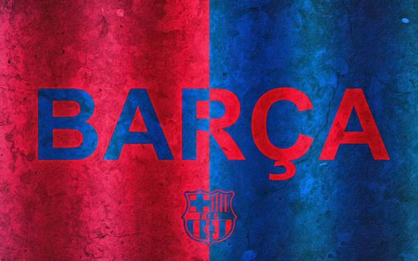 Painting - Barcelona Football Club Poster by Florian Rodarte