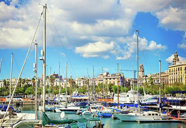 Luxury Yacht Photograph - Barcelona Harbor by Nikada