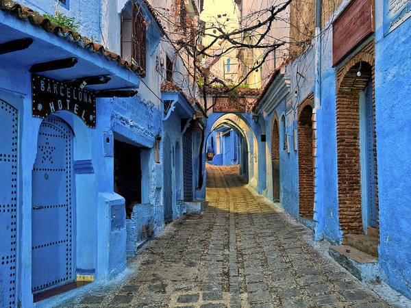 Casbah Photograph - Barcelona Hotel - Chefchaouen Morocco by Dominic Piperata