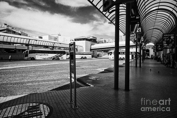 Autobus Photograph - Barcelona Nord Bus Station  Catalonia Spain by Joe Fox