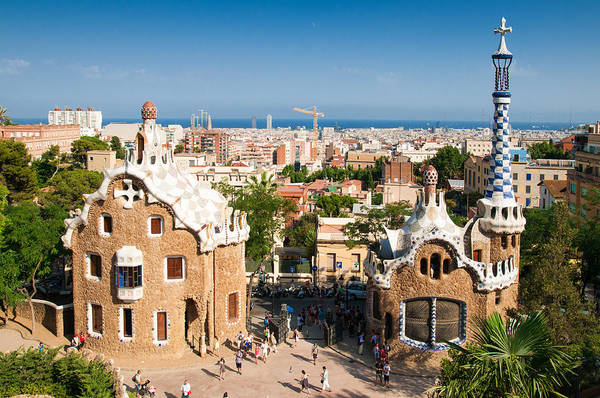 Photograph - Barcelona Park Guell Antoni Gaudi by Matthias Hauser