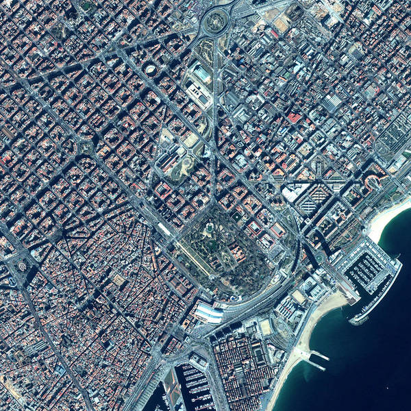 Wall Art - Photograph - Barcelona by Space Imaging Europe/science Photo Library