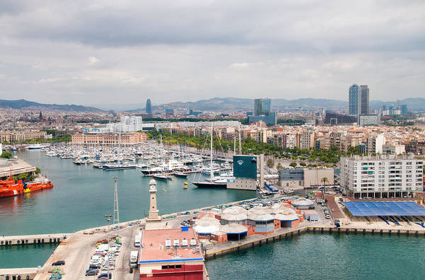 Photograph - Barcelona Spain Harbor And City by Matthias Hauser