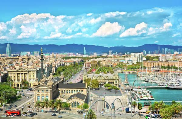Dock Of The Bay Photograph - Barcelona, Spain by Nikada