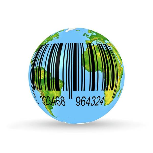 Barcodes Wall Art - Photograph - Barcoded Earth by Wladimir Bulgar/science Photo Library