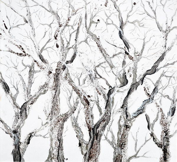 Painting - Bare Branches Print Option 2 by Regina Valluzzi