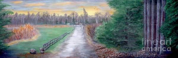 Painting - Bare Oaks Spring Morning 2013 by Monika Shepherdson