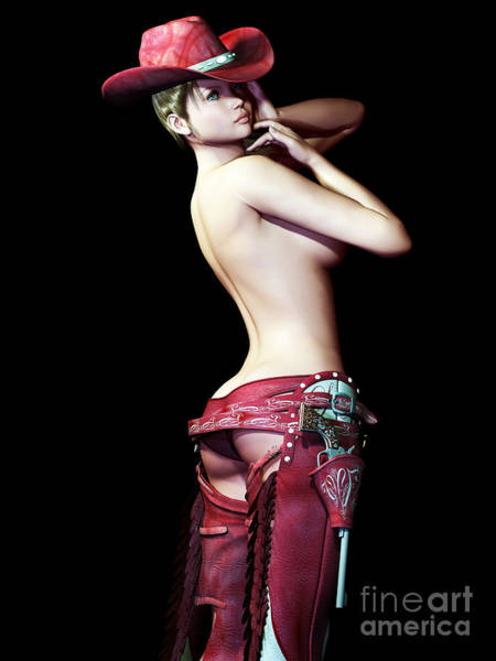 Babe Digital Art - Bareback Revisited by Alexander Butler