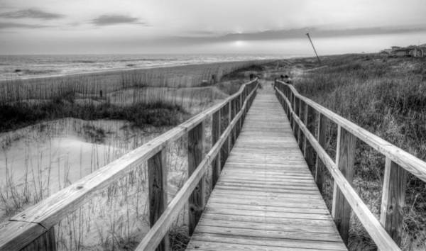 Wrightsville Beach Wall Art - Photograph - Barefoot Bw by JC Findley