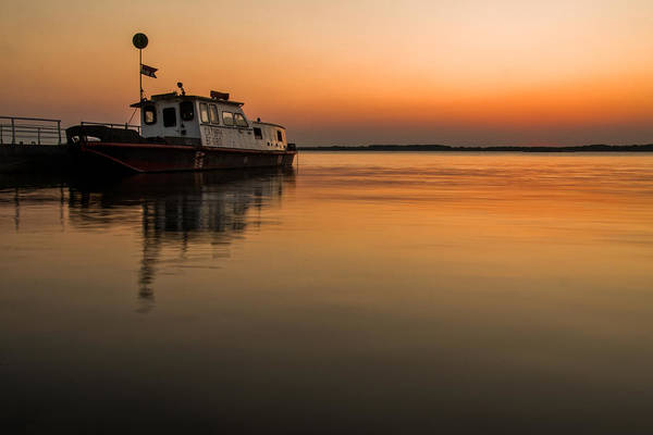 Danube Photograph - Barge On Danube by Davorin Mance