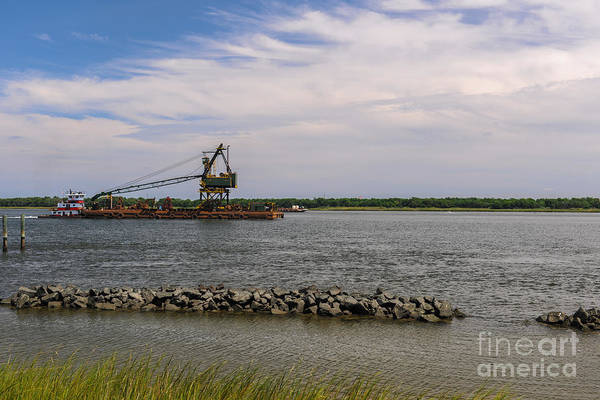 Photograph - Barge On The Cooper River by Dale Powell