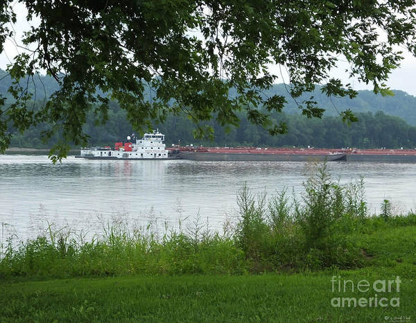 Photograph - Barge On The Ohio At Ghent Ky by Lizi Beard-Ward