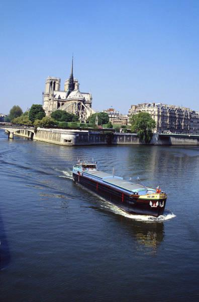Photograph - Barge On The River Seine by Matt Swinden