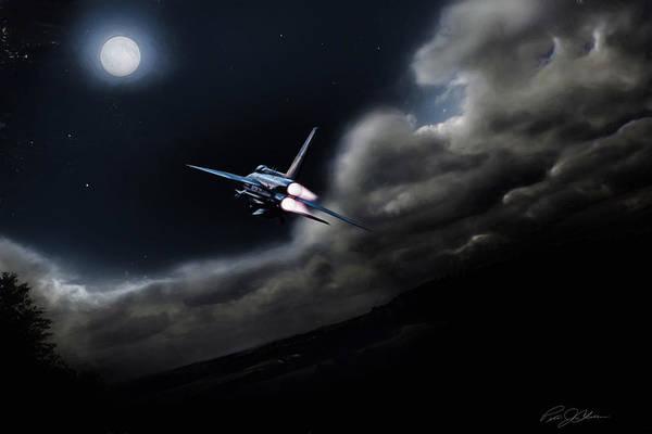 Lightning Digital Art - Bark At The Moon by Peter Chilelli