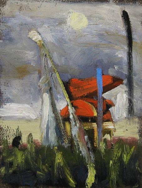 Barley Painting - Barley Thrasher by Michael Britton