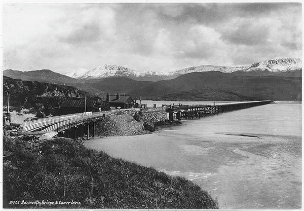 Barmouth Photograph - Barmouth Bridge Crossing The Afon by Mary Evans Picture Library