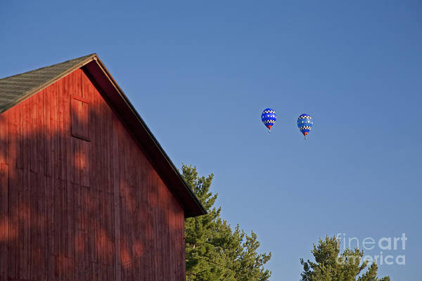 Photograph - Barn And Balloons by Jim West