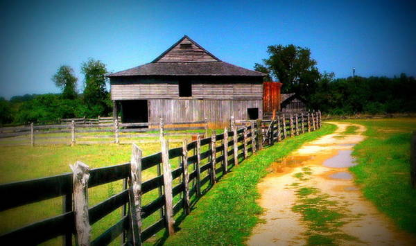 Wall Art - Photograph - Barn And Fence In Virginia by Jo Anna Wycoff