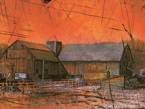 Photograph - Barn At Sunset by Claire Bull