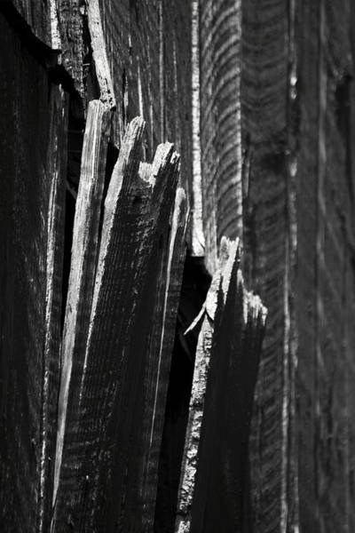 Photograph - Barn Boards Black And White by Rebecca Sherman