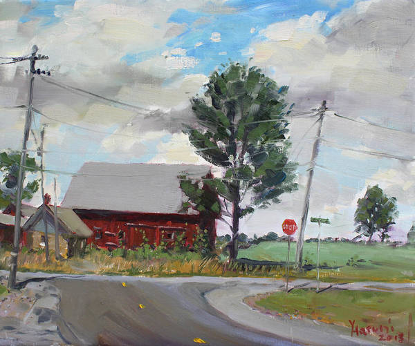 Power Painting - Barn By Lockport Rd by Ylli Haruni