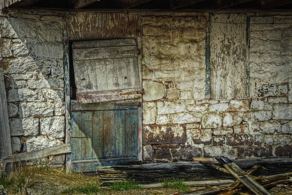 Hinges Photograph - Barn Door by Joan Carroll