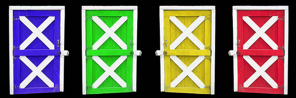 Photograph - Barn Doors by Gunter Nezhoda